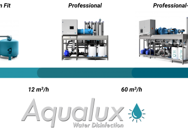UV-disinfection already possible from 1 cubic meter per hour